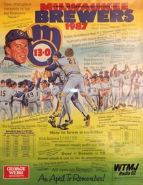 1987 George Webb Milwaukee Brewers Promotional Poster | Posters & Prints | 1987 Milwaukee Brewers and George Webb Streak Promotional Poster