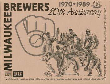 20th Anniversary Milwaukee Brewers Sportrait | Posters & Prints | Front