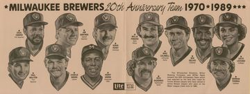 20th Anniversary Milwaukee Brewers Sportrait | Posters & Prints | Opened Up Print