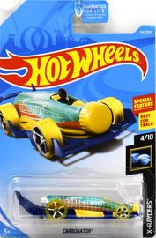 Carbonator | Model Cars | 2019 Hot Wheels X-Racers Carbonator Transparent Aquamarine