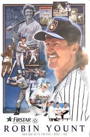 Robin Yount Hall Of Fame Night Poster | Posters & Prints