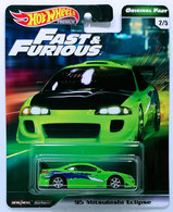 '95 Mitsubishi Eclipse | Model Cars | HW 2019 - Fast & Furious / Original Fast 2/5 - '95 Mitsubishi Eclipse - Green - Metal/Metal & Real Riders