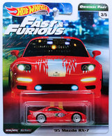 '95 Mazda RX-7 | Model Cars | HW 2019 - Fast & Furious / Original Fast 3/5 - '95 Mazda RX-7 - Red - Metal/Metal & Real Riders