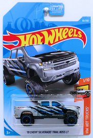 Hot Wheels 2019 Kmart exclusive color /'19 CHEVY SILVERADO TRAIL BOSS LT silver