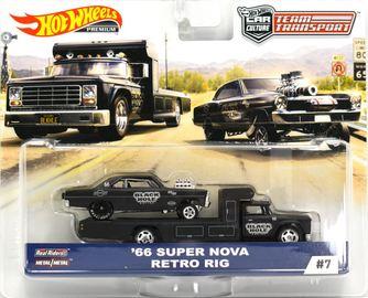 '66 Super Nova - Retro Rig | Model Vehicle Sets | 2019 Hot Wheels Team Transport '66 Super Nova with Retro Rig