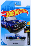 Mazda Repu | Model Trucks | HW 2019 - Collector # 138/250 - Nightburnerz 7/10 - Super Treasure Hunts - Mazda Repu - Spectraflame Blue - Real Riders - USA Card
