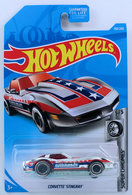 Corvette Stingray | Model Cars | HW 2019 - Collector # 159/250 - Super Chromes 5/5 - Treasure Hunts - Corvette Stingray - Chrome - USA Card