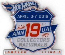 19th Hot Wheels Annual Collectors Nationals Pin | Pins & Badges | Hot Wheels 2019 19th Annual Collectors Nationals Collector Pin Lombard Illinois April 3-7 2019