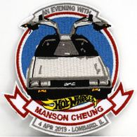 An Evening With Manson Cheung Commemorative Patch | Uniform Patches | 2019 19th Annual Hot Wheels Collectors Nationals Dinner With Manson Cheung Collectors Patch