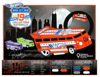 2019 - 19th Annual Collectors Nationals Autograph Sheets | Posters & Prints | 2019 - 19th Annual Hot Wheels Collectors Nationals Autograph Sheet Bryan Pope