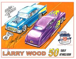 2019 - 19th Annual Collectors Nationals Autograph Sheets | Posters & Prints | 2019 - 19th Annual Hot Wheels Collectors Nationals Autograph Sheet Larry Wood