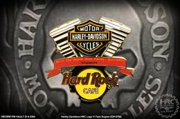 Harley-Davidson Logo with V-Twin Engine   Pins & Badges