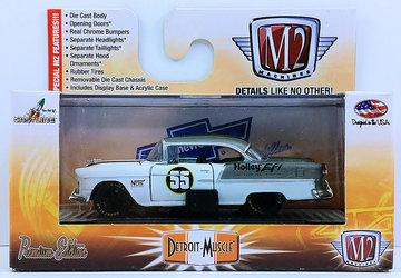 1955 Chevrolet Bel Air Hardtop Custom | Model Cars | M2 Machines 2015 - Item # 32600 - Detroit Muscle - 1955 Chevrolet Bel Air Hardtop Custom - White & Gray