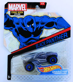 Black Panther | Model Cars | HW 2018 - Character Cars # GCK10 - Marvel Comic Book Styling 4/4 - Black Panther - Purple over Chrome