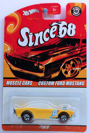 Custom Ford Mustang | Model Cars | HW 2008 - Since '68/Muscle Cars 07/10 - # L2852 - Custom Ford Mustang - Yellow - Metal/Metal