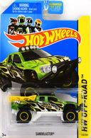 Sandblaster | Model Trucks | 2014 Hot Wheels Super Treasure Hunt HW Off-Road Sandblaster Error - Roll Cage Loose in Package