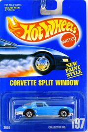 Corvette Split Window     | Model Cars | Hot Wheels New Paint Style Blue Card Corvette Split Window