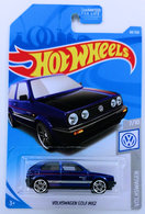 Volkswagen Golf MK2 | Model Cars | HW 2019 - Collector # 068/250 - Volkswagen 7/10 - Volkswagen Golf MK2 - Blue - USA Card