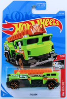 5 Alarm | Model Trucks | HW 2019 - Collector # 172/250 - HW Rescue 7/10 - 5 Alarm (Fire Truck) - Green - USA Card
