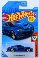 '18 COPO Camaro SS | Model Cars | HW 2019 - Collector # 071/250 - Muscle Mania 5/10 - '18 COPO Camaro SS - Metallic Blue - USA Card