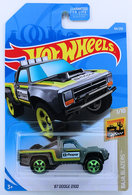 '87 Dodge D100 | Model Trucks | HW 2019 - Collector # 064/365 - Baja Blazers 1/10 - '87 Dodge D100 - Gray - USA Card