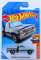 1978 Dodge Li'l Red Express Truck | Model Trucks | HW 2019 - Collector # 055/250 - HW Hot Trucks 10/10 - 1978 Dodge Li'l Red Express Truck - Gray - USA Card