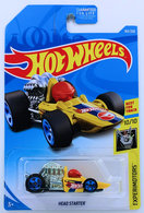 Head Starter | Model Cars | HW 2019 - Collector # 163/250 - Experimotors 10/10 - Treasure Hunts - Head Starter - Yellow - USA Card