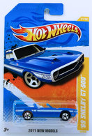 '69 Shelby GT-500 | Model Cars | HW 2011 - Collector # 021/244 - New Models 11/50 - '69 Shelby GT-500 - Blue - USA Card