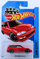 1990 Honda Civic EF | Model Cars | HW 2014 - Collector # 030/250 - HW City / Night Burnerz - 1990 Honda Civic EF - Red - International Long Card