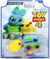 Ducky And Bunny | Model Cars | 2019 Hot Wheels Toy Story 4 Character Cars Duck and Bunny