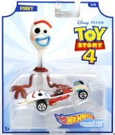 Forky | Model Cars | 2019 Hot Wheels Toy Story 4 Character Cars Forky