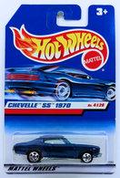Chevelle SS 1970 | Model Cars | HW 1999 - Toy # 21062 - Chevelle SS 1970 - Blue - Pinstripe outline on Hood Stripes - International Long Card