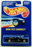 BMW 323 Cabriolet    | Model Cars | HW 1990 - Toy # 9726 - BMW 323 Cabriolet - Black - Hot Ones Wheels - International Blue Card