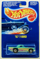 '57 T-Bird | Model Cars | HW 1990 - Toy # 1610 - '57 T-Bird - Turquoise - Basic Wheels - International Blue Card (Never on a USA Card, but was a McDonalds Happy Meal Toy)