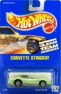 Corvette Stingray       Model Cars   Hot Wheels Gleam Team Edition Corvette Stingray Textured Light Green