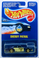 Sheriff Patrol | Model Cars | HW 1990 - Toy # 9526 - Sheriff Patrol - Blue - 4 White Doors - International Blue Card