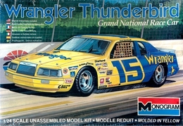 1983 Ford Thunderbird #15 Dale Earnhardt 'Wrangler' Grand National Race Car | Model Racing Car Kits