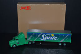 Kenworth T-600A Semi Truck Rig 1/64 Scale PEM Sprite Trailer Diecast Collectible | Model Vehicle Sets