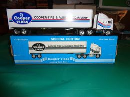 Liberty Classic Cooper Tires Die Cast Semi Tractor Trailer Coin Bank 1:64 Scale | Coin Banks