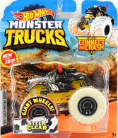 Steer Clear | Model Trucks | 2019 Hot Wheels Monster Truck with Connect and Crash Car Steer Clear Black