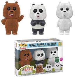 Grizz, Panda & Ice Bear (Flocked 3-Pack) | Vinyl Art Toys