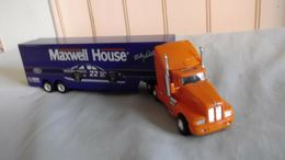 Diecast ho scale maxwell house semi tractor trailer exc. condition model vehicle sets 43da16e0 f282 4922 927c cd17244069a6 medium