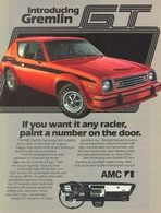 Introducing Gremlin GT If You Want It Any Racier, Paint A Number On The Door.  | Print Ads