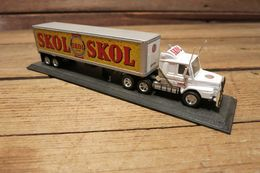 Matchbox Collectibles Skol Lager Scania Semi Truck Tractor Trailer Die Cast Rig | Model Vehicle Sets