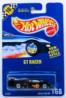 GT Racer     | Model Racing Cars | HW 1992 - Collector # 168 - GT Racer - Black - BW Wheels - USA Blue Card Brown Back and Speed Points