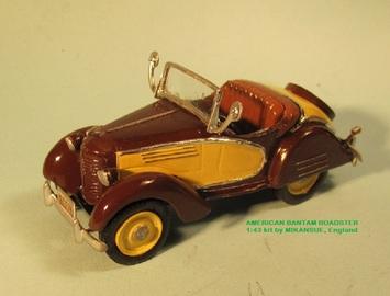 American Bantam Roadster | Model Car Kits | David H