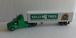 PEM 1:64 Kenworth Kelly Springfield Tires Die-Cast Cab & Trailer Semi M70504 | Model Vehicle Sets