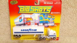 Vintage 1990 Road Champs Big Shots 1:87 HO Scale Kenworth Goodyear Tire Hauler | Model Vehicle Sets