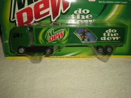 "Golden Wheel Die-Casting 'Mountain Dew' Semi Tractor-Trailer 7"" Toy Vehicle 