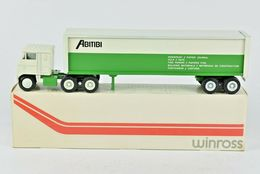1974 Winross Abitibi Paper Products Building Materials Truck and Trailer 1:64 | Model Vehicle Sets